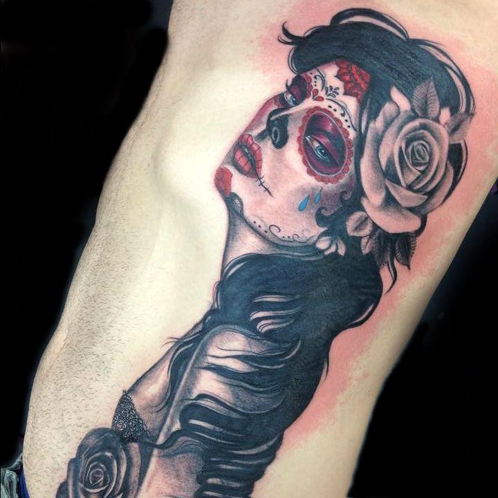 dayofthedead deadgirl bobbi primitive tattoo perth