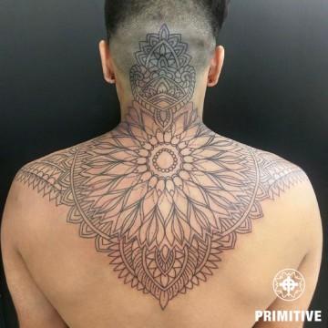 back piece geometric mandala progress petra
