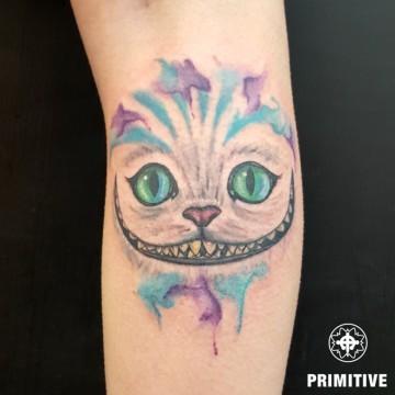 cat watercolour georgina primitive tattoo