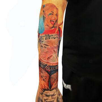 Erick primitive tattoo best tattoo shop studio in perth realism portrait script watercolour www.primitivetattoo.com.au411