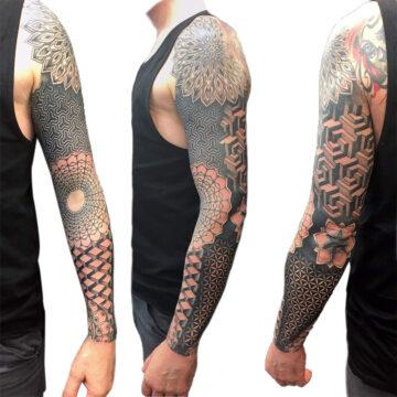 Petra Mandala Geometry geometric tattoo floral sternum hand femals tattoo primitive tattoo tribal best tattoo shop studio in perth script www.primitivetattoo.com.au21